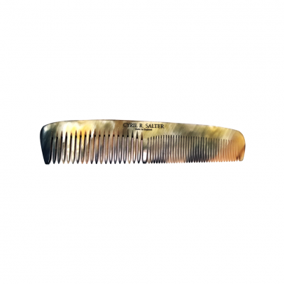 Cyril R. Salter Genuine Horn Double Tooth Comb (15cm)