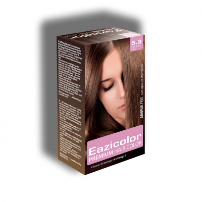 Eazicolor Permanent Hair Dye - Golden Brown 5.3