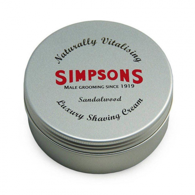 SIMPSONs LUXURY SANDALWOOD SHAVING CREAM (125ml)